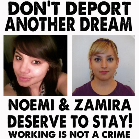 Don't Deport Zamira and Naomi