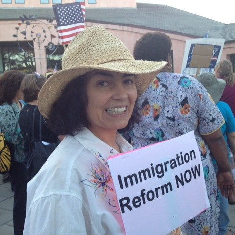 Maria Marroquin at Rally