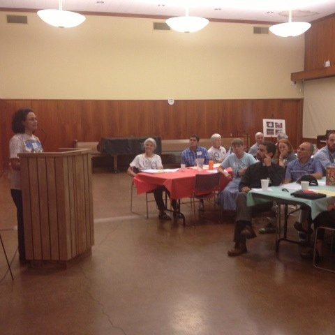 Maria speaking to First Presbyterian Church in Palo Alto