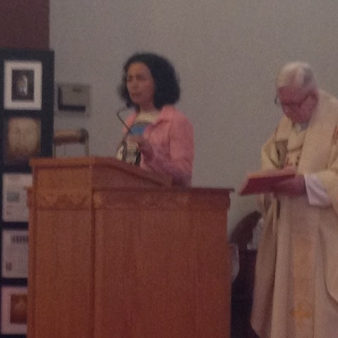 Maria speaking in St Francis of Asissi