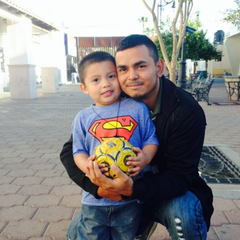Ardani with his son