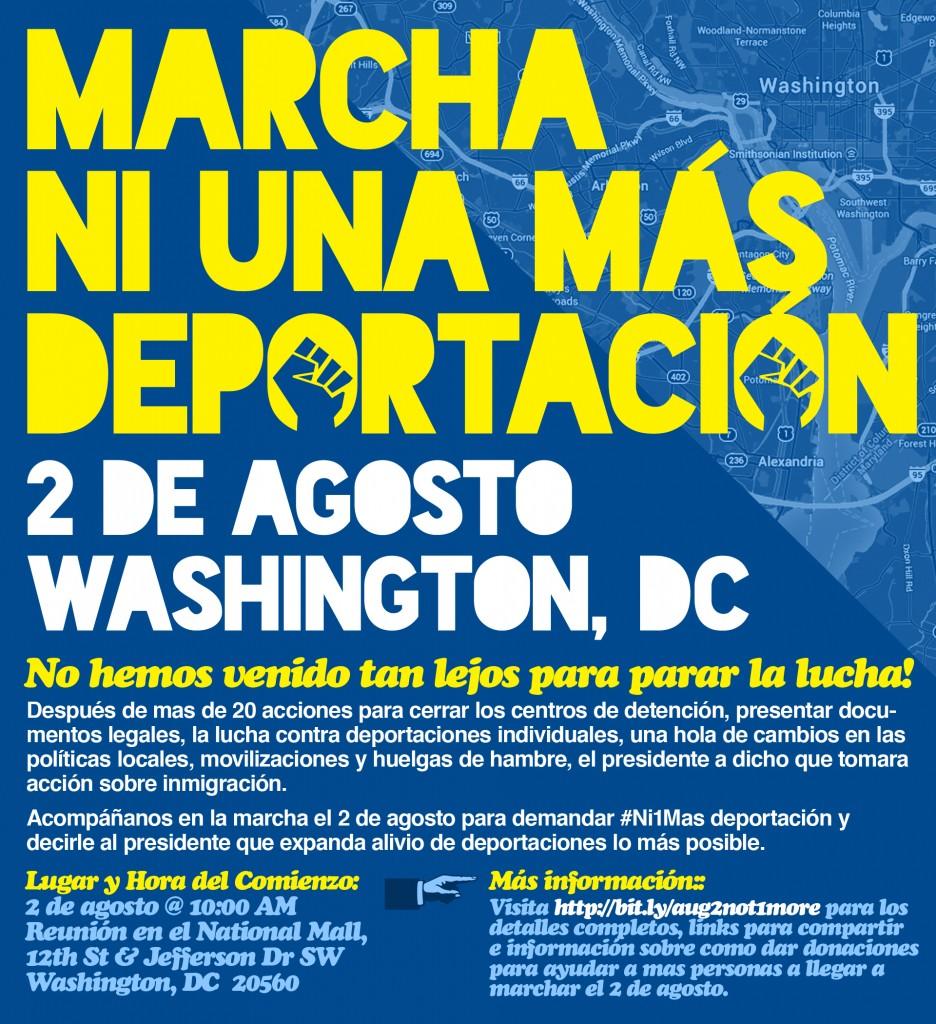 MArcha Ni Una Más Deportación