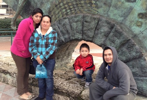 Irvin Pineda Mauricio and his family. Irvin is currently detained although he fits ICE's low priority criteria.