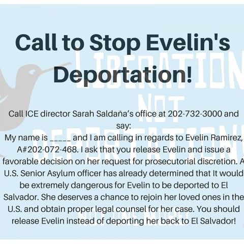Call to Stop Evelin's Deportation!