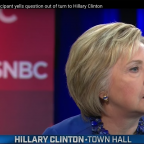Clinton forced to answer detention question
